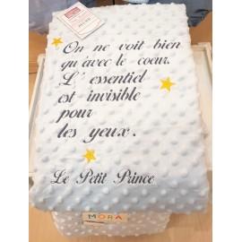 Manta topitos Le Petit Principe (80x110)